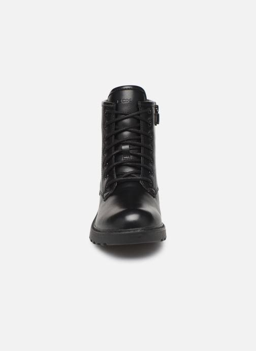 Bottines et boots Geox J Casey Girl J9420G Noir vue portées chaussures