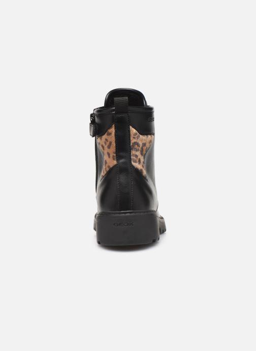 Boots en enkellaarsjes Geox J Casey Girl J9420G Zwart rechts