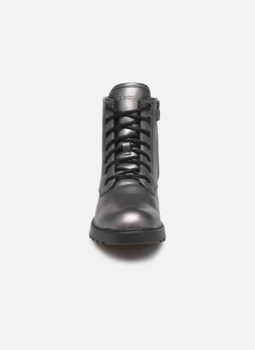 Bottines et boots Geox J Casey Girl J9420G Argent vue portées chaussures