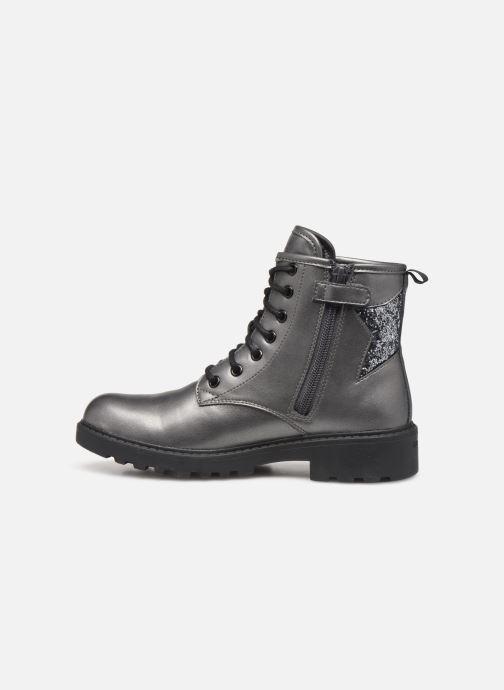 Boots en enkellaarsjes Geox J Casey Girl J9420G Zilver voorkant