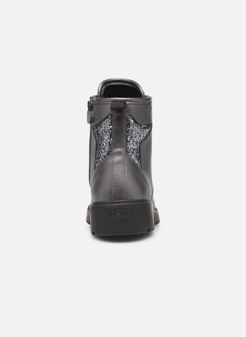Boots en enkellaarsjes Geox J Casey Girl J9420G Zilver rechts