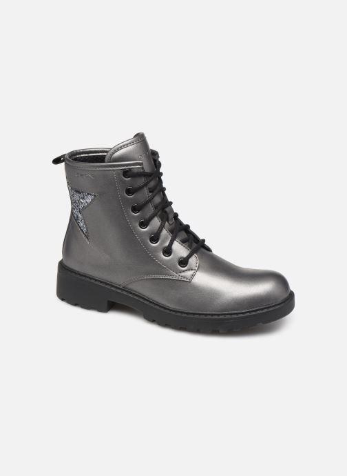 Bottines et boots Geox J Casey Girl J9420G Argent vue détail/paire