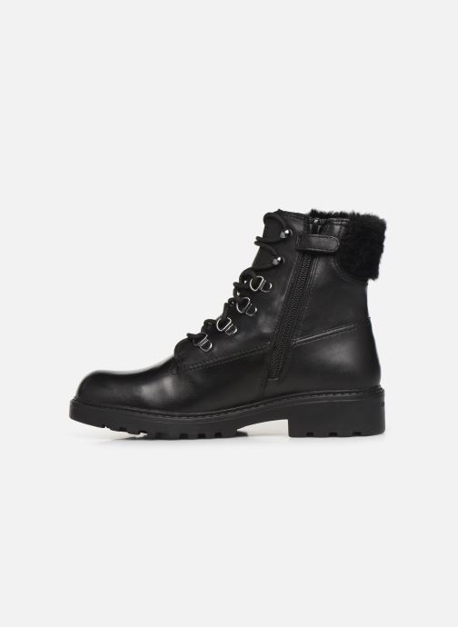 Ankle boots Geox J Casey Girl WPF J94AFC Black front view