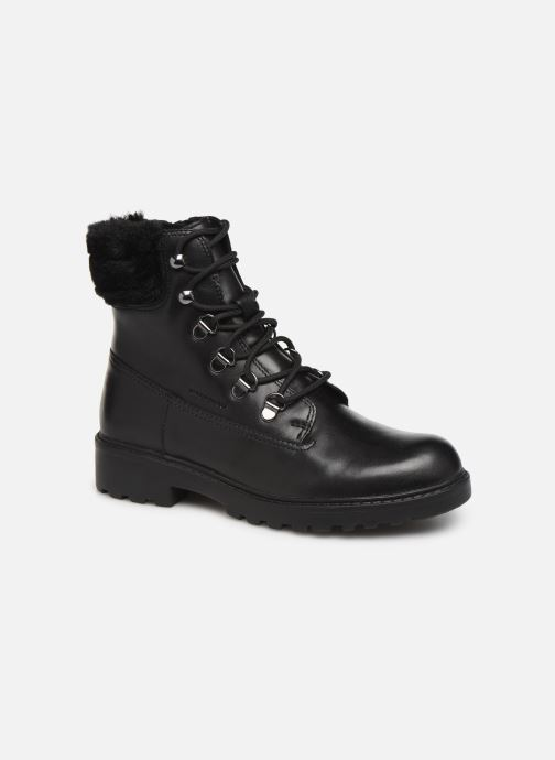 Ankle boots Geox J Casey Girl WPF J94AFC Black detailed view/ Pair view