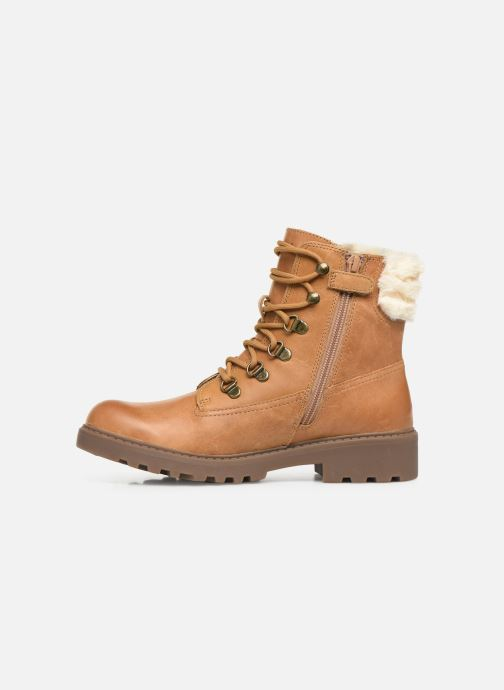 Ankle boots Geox J Casey Girl J9420H Brown front view