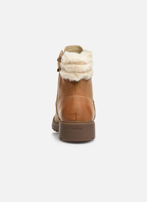 Ankle boots Geox J Casey Girl J9420H Brown view from the right
