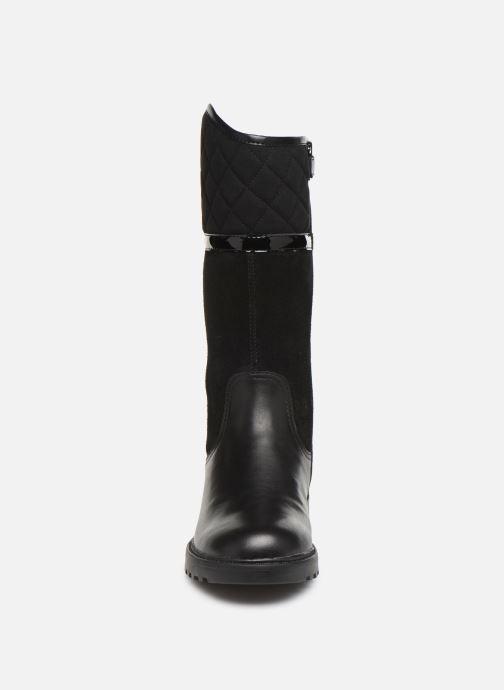 Bottes Geox J Casey Girl WPF J94AFB Noir vue portées chaussures