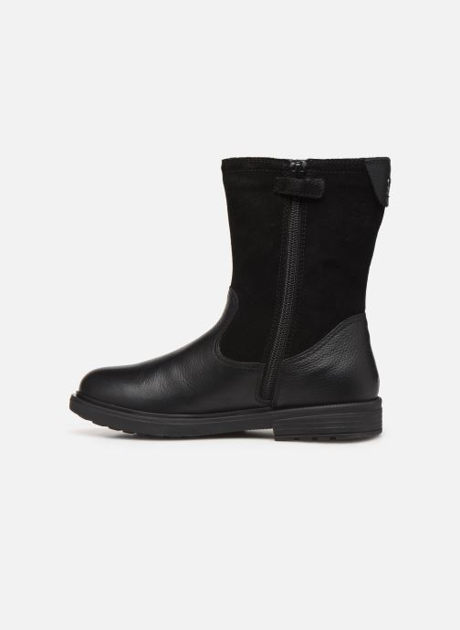 Boots & wellies Geox J Eclair Girl WPF J949UA Black front view
