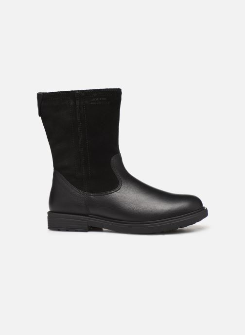 Boots & wellies Geox J Eclair Girl WPF J949UA Black back view