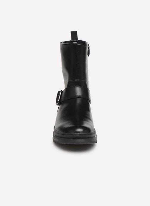 Stiefel Geox J Gillyjaw Girl J947XB schwarz schuhe getragen