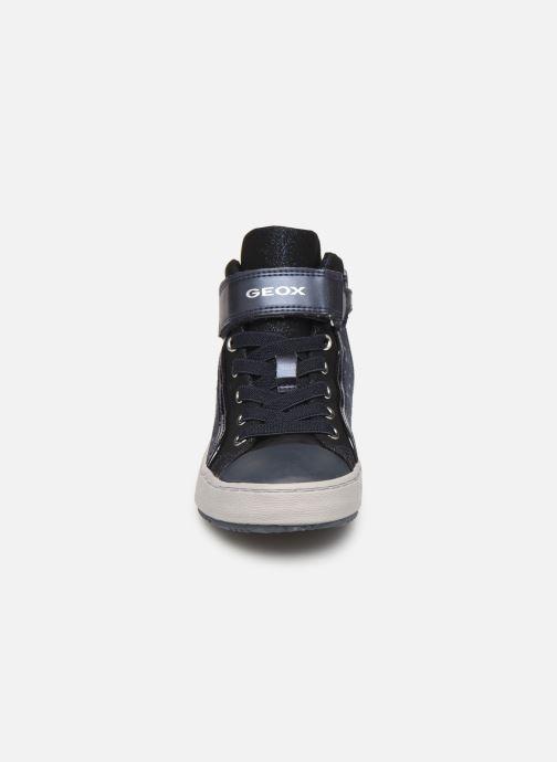 Baskets Geox J Kalispera Girl J744GI Bleu vue portées chaussures
