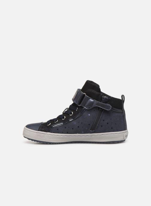 Sneaker Geox J Kalispera Girl J744GI blau ansicht von vorne