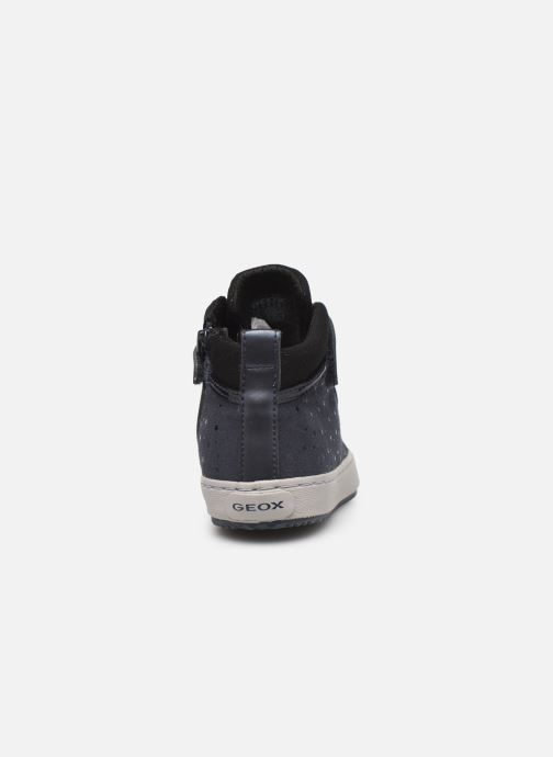 Sneaker Geox J Kalispera Girl J744GI blau ansicht von rechts