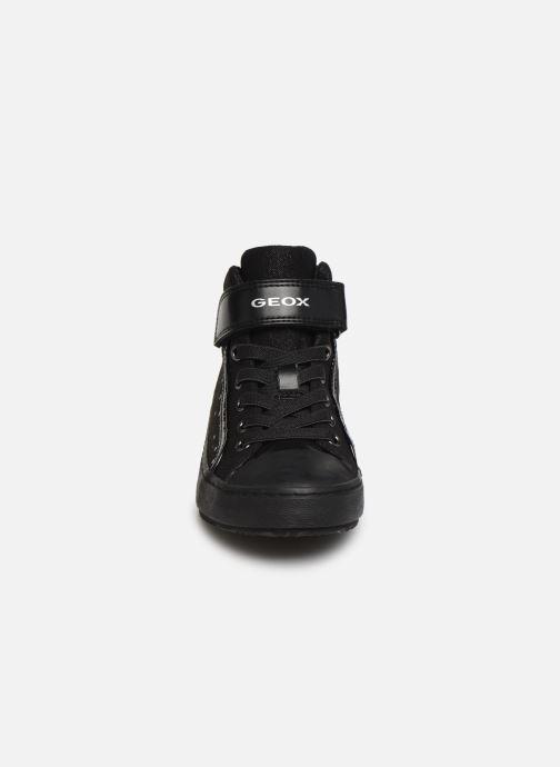 Sneakers Geox J Kalispera Girl J744GI Nero modello indossato
