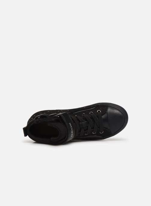 Sneakers Geox J Kalispera Girl J744GI Zwart links