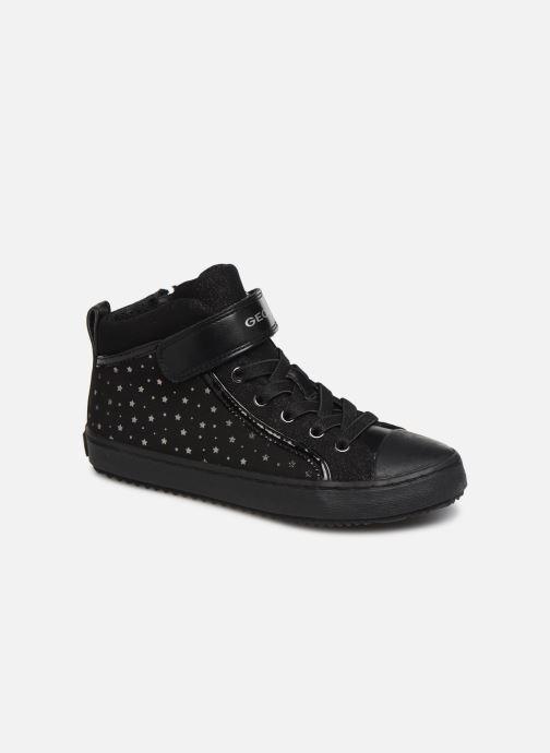Sneakers Geox J Kalispera Girl J744GI Zwart detail