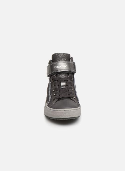 Sneaker Geox J Kalispera Girl J744GI grau schuhe getragen