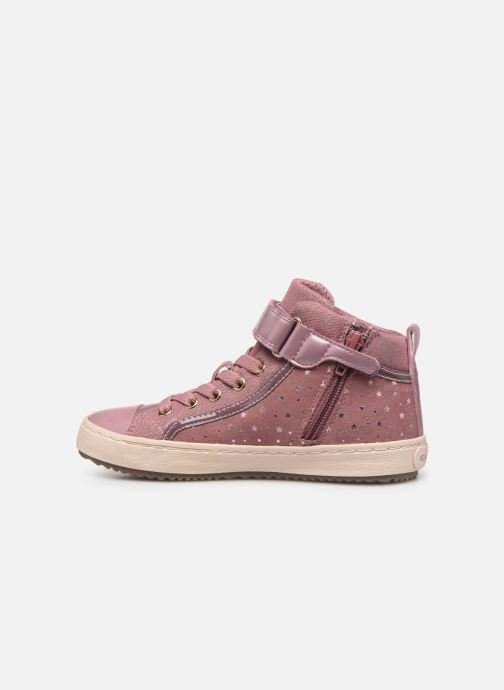 Baskets Geox J Kalispera Girl J744GI Rose vue face