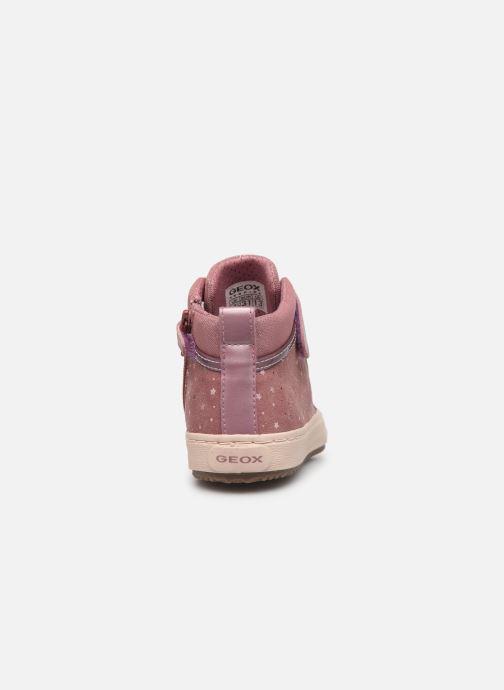 Sneaker Geox J Kalispera Girl J744GI rosa ansicht von rechts