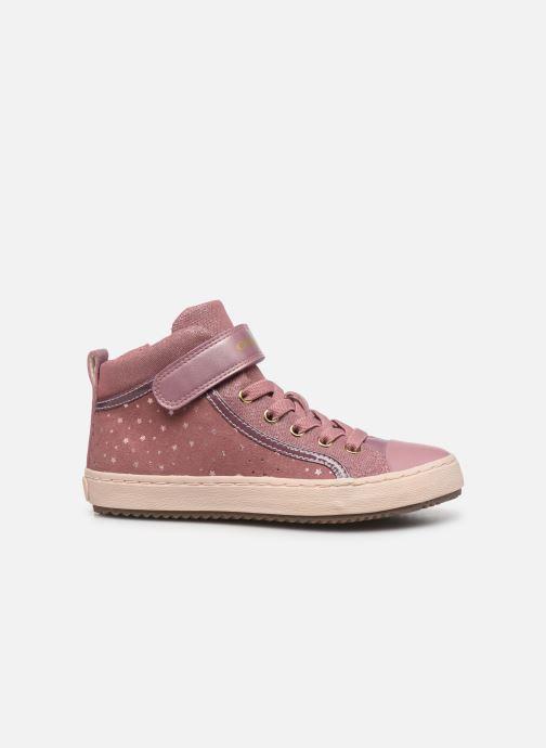 Sneaker Geox J Kalispera Girl J744GI rosa ansicht von hinten