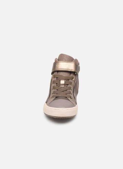 Baskets Geox J Kalispera Girl J744GI Beige vue portées chaussures