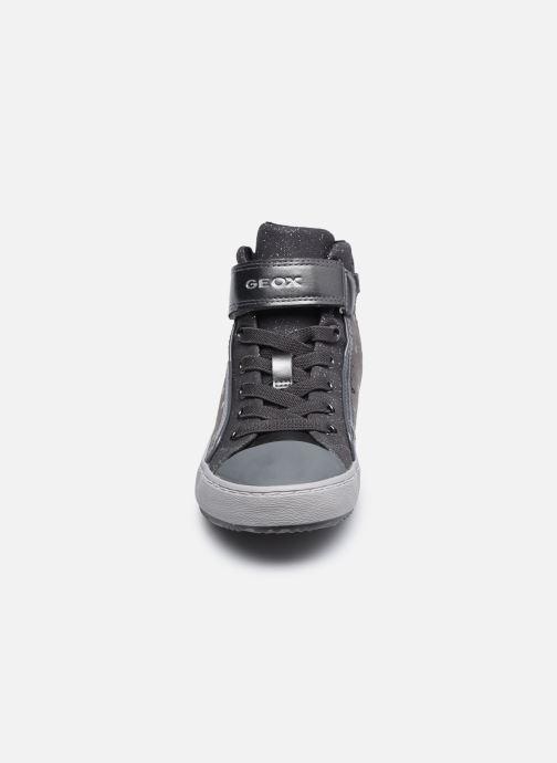 Sneakers Geox J Kalispera Girl J744GI Grigio modello indossato