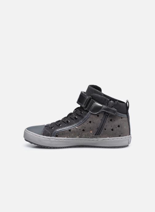 Sneaker Geox J Kalispera Girl J744GI grau ansicht von vorne