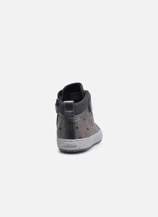 Sneaker Geox J Kalispera Girl J744GI grau ansicht von rechts