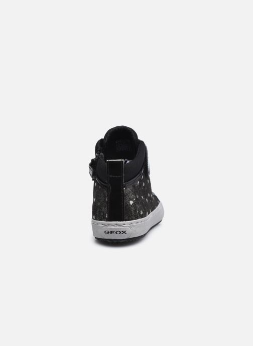Sneakers Geox J Kalispera Girl J744GI Zwart rechts