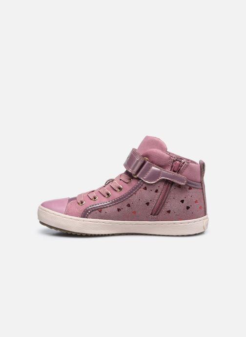 Sneakers Geox J Kalispera Girl J744GI Roze voorkant
