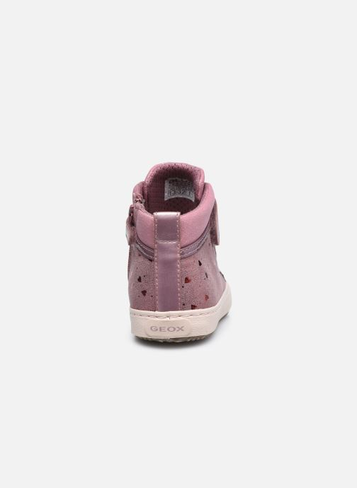 Sneakers Geox J Kalispera Girl J744GI Roze rechts