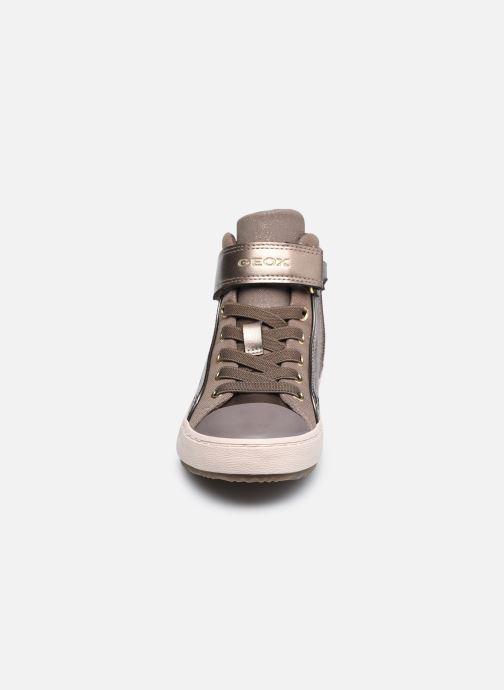 Sneaker Geox J Kalispera Girl J744GI braun schuhe getragen