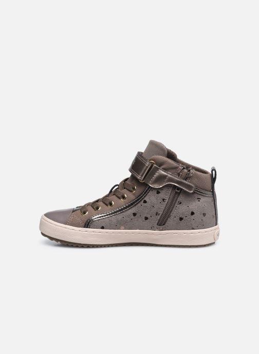 Sneaker Geox J Kalispera Girl J744GI braun ansicht von vorne