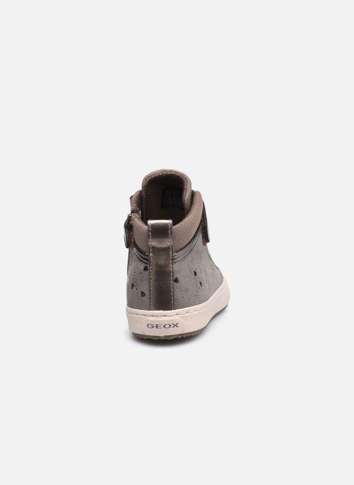 Sneaker Geox J Kalispera Girl J744GI braun ansicht von rechts