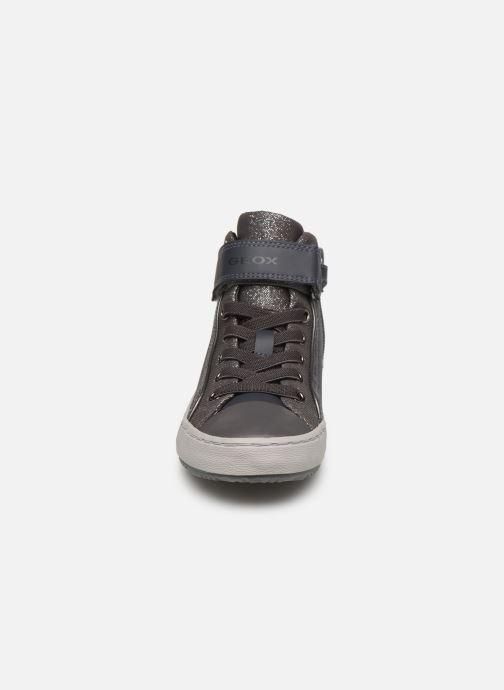 Baskets Geox J Kalispera Girl J944GM Gris vue portées chaussures