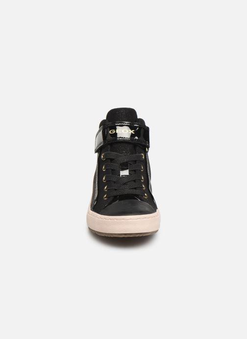 Sneaker Geox J Kalispera Girl J944GM schwarz schuhe getragen