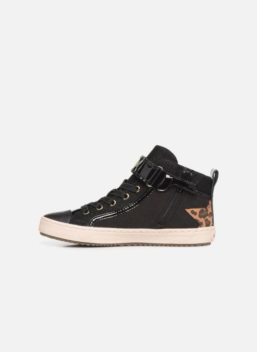 Sneaker Geox J Kalispera Girl J944GM schwarz ansicht von vorne