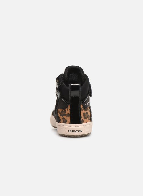 Sneakers Geox J Kalispera Girl J944GM Zwart rechts