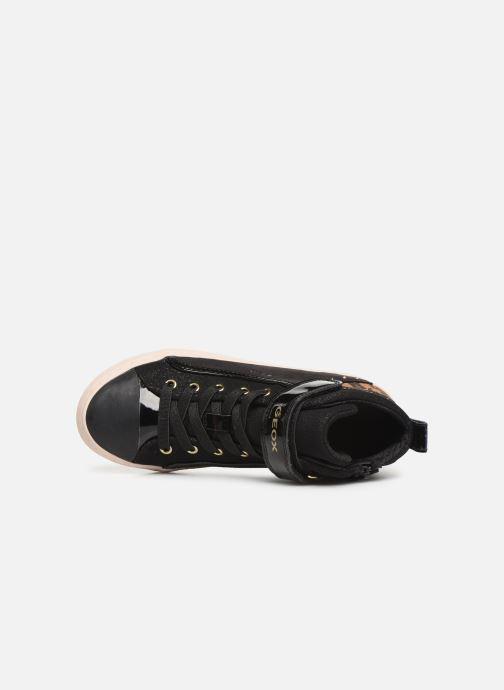 Sneaker Geox J Kalispera Girl J944GM schwarz ansicht von links