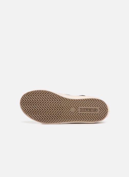 Sneaker Geox J Kalispera Girl J944GM schwarz ansicht von oben