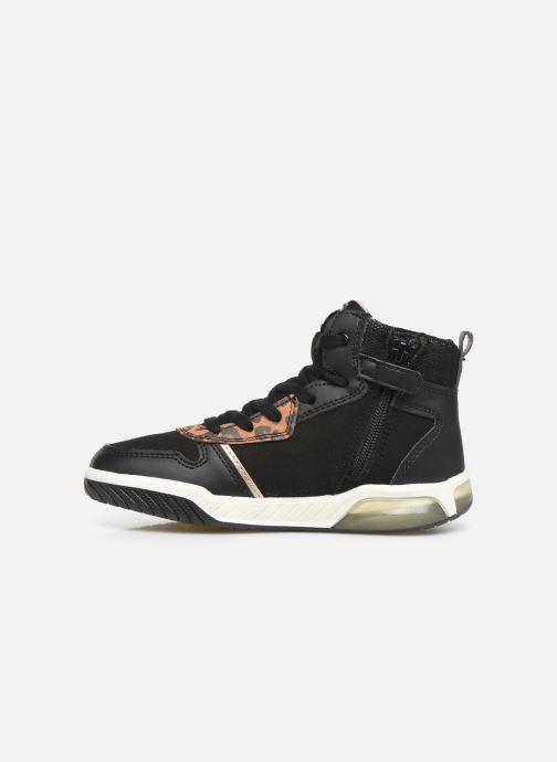 Sneakers Geox J INEK GIRL J94ASA Zwart voorkant