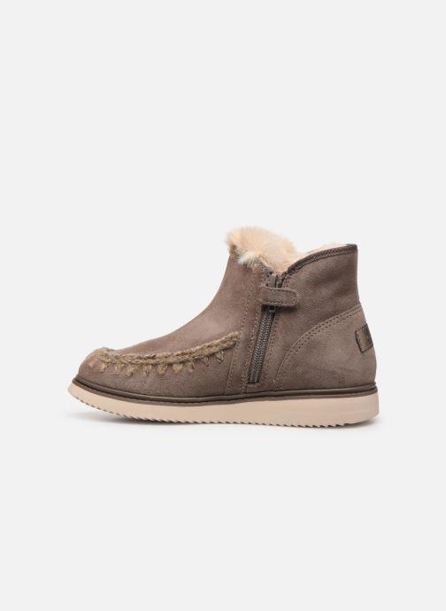 Boots en enkellaarsjes Geox J Thymar Girl J944FF Grijs voorkant