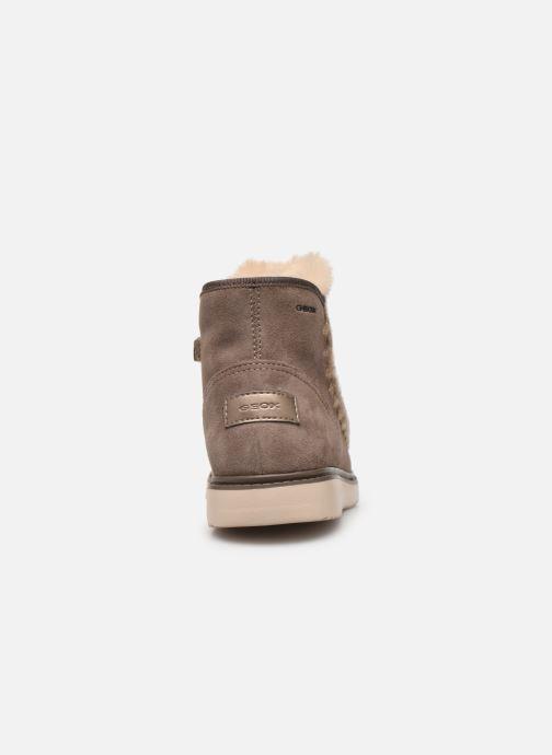 Boots en enkellaarsjes Geox J Thymar Girl J944FF Grijs rechts