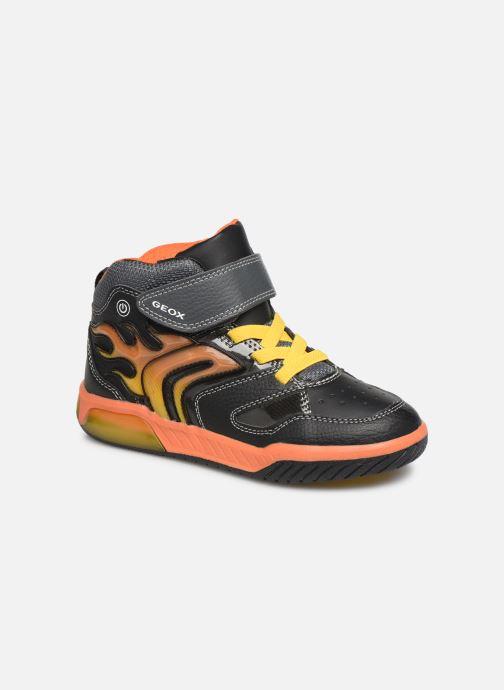 Sneakers Geox J Inek Boy J949CC Sort detaljeret billede af skoene