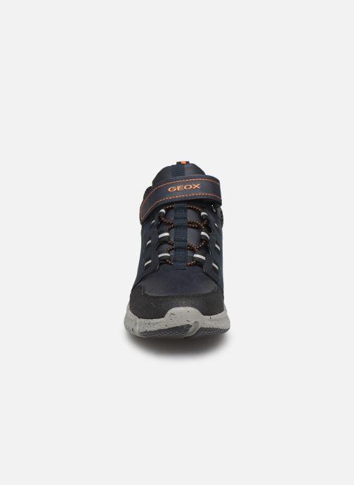 Sneaker Geox J Flexyper Boy B Abx J949XA blau schuhe getragen