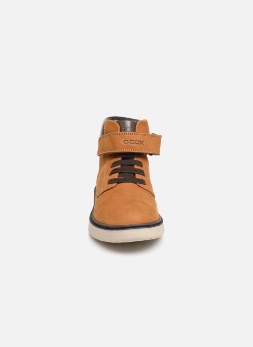 Bottines et boots Geox J Riddock Boy WPF J847TA Jaune vue portées chaussures