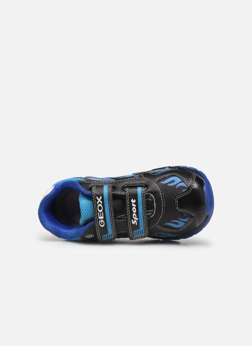 Baskets Geox J Android Boy J9444C Bleu vue gauche