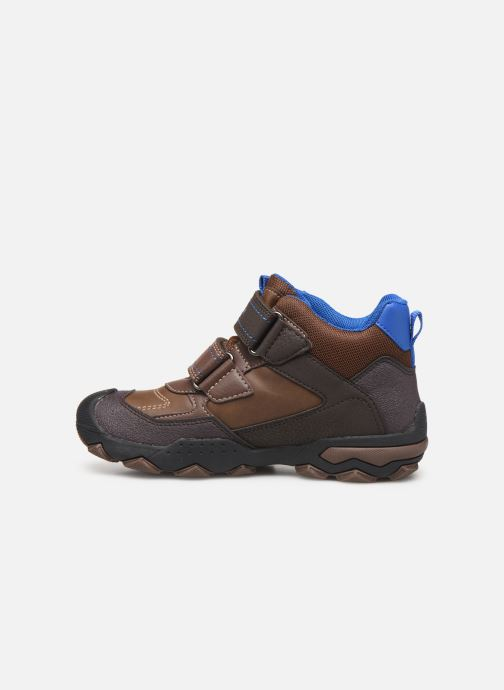 Chaussures de sport Geox J Buller Boy B Abx J949WE Marron vue face