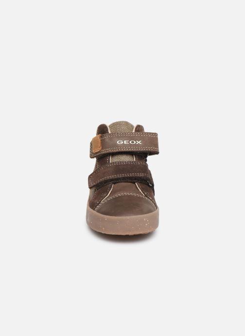 Baskets Geox B Kilwi Boy x WWF Marron vue portées chaussures