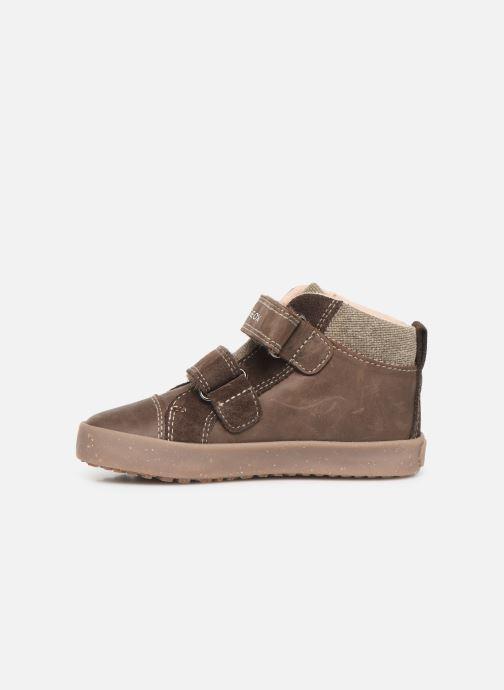 Sneakers Geox B Kilwi Boy x WWF Bruin voorkant
